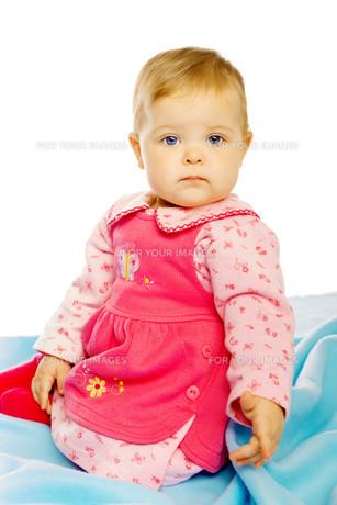 Little girl baby in a dressの素材 [FYI00789949]