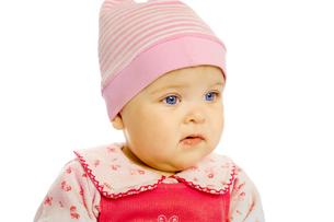 Portrait of blue-eyed babyの素材 [FYI00789957]