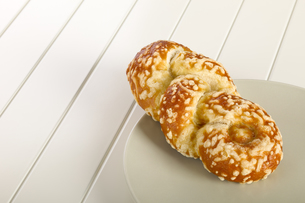 Bun with cheese gratinの写真素材 [FYI00789964]