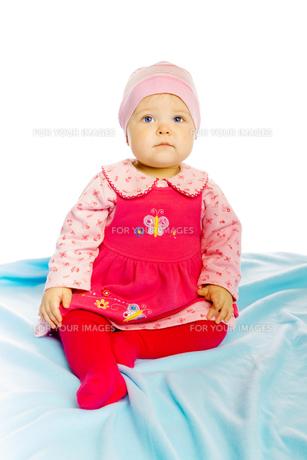 Little girl baby in a dressの素材 [FYI00789969]