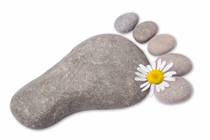 foot symbol of stonesの写真素材 [FYI00790019]