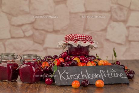 boil cherry jamの写真素材 [FYI00790101]