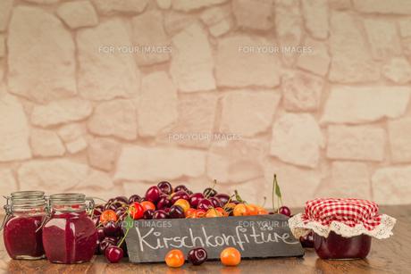 boil cherry jamの写真素材 [FYI00790112]
