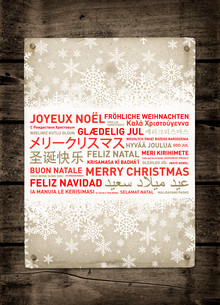 Merry christmas vintage poster from the worldの写真素材 [FYI00790202]