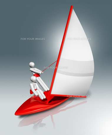 Sailing 3D symbol, Olympic sportsの素材 [FYI00790235]