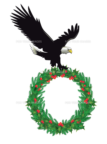 eagle with wreathの素材 [FYI00790923]