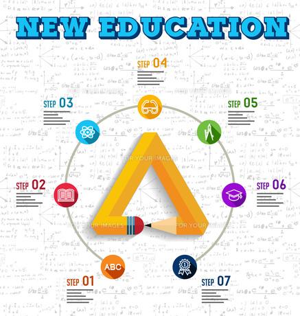 Education infographic designの素材 [FYI00790953]