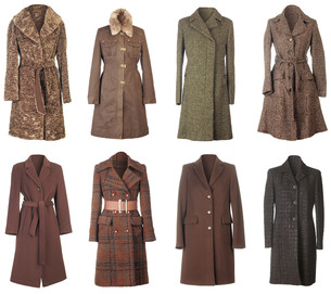 Winter Coats Cutoutの写真素材 [FYI00791046]