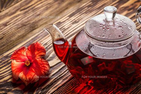Hibiscus tea (rosella)の写真素材 [FYI00791118]