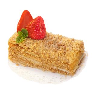 Strawberry dessert isolated on whiteの写真素材 [FYI00791147]