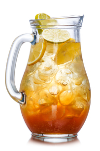 Iced tea in the pitcherの写真素材 [FYI00791187]