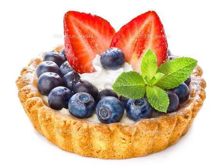Blueberry dessertの写真素材 [FYI00791217]