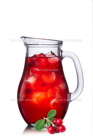 Fruit-drink from cowberryの写真素材 [FYI00791256]