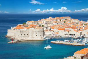 Famous historical town of Dubrovnik, Croatiaの写真素材 [FYI00791367]