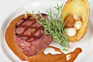 beef steakの写真素材 [FYI00791590]