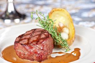 beef steakの写真素材 [FYI00791628]