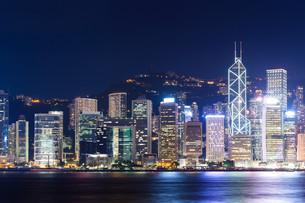 Hongkong night lightの素材 [FYI00791705]