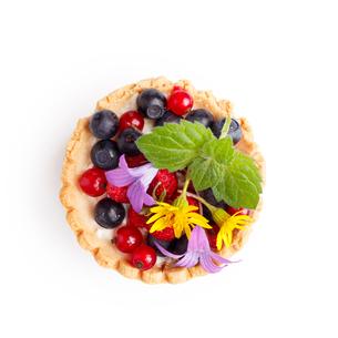 Dessert with wild berriesの写真素材 [FYI00791761]