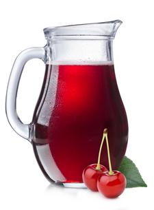 Cherry juice in a pitcherの写真素材 [FYI00791784]