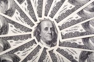 American dollarsの写真素材 [FYI00792037]