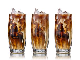 Iced coffee setの写真素材 [FYI00792301]