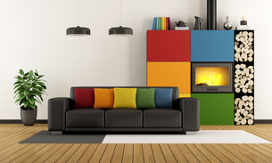 Colorful living roomの写真素材 [FYI00792309]