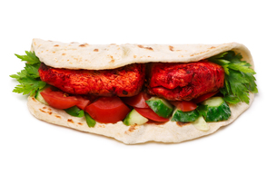 Tikka masala naan sandwichの写真素材 [FYI00792334]