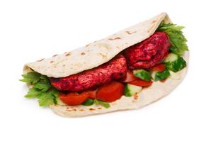 Tikka masala naan sandwichの写真素材 [FYI00792373]