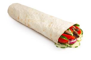 Beef shawarma isolatedの写真素材 [FYI00792782]