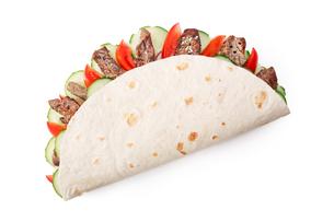 Beef shawarma isolatedの写真素材 [FYI00792788]