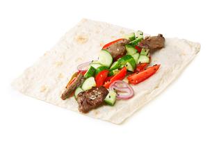 Beef shawarma isolatedの写真素材 [FYI00792815]