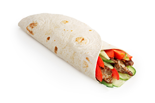 Beef shawarma isolatedの写真素材 [FYI00792841]