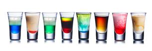 Colorful shot drinksの写真素材 [FYI00792862]