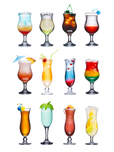 Fruit cocktails isolated setの写真素材 [FYI00792863]
