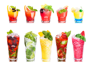 Fruit cocktails isolated setの写真素材 [FYI00792864]