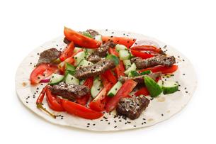 Beef shawarma isolatedの写真素材 [FYI00792871]