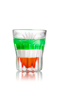 Italian flag shot cocktailの写真素材 [FYI00792879]