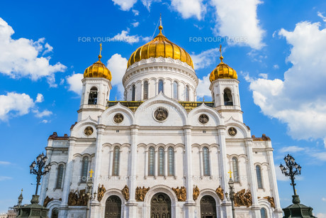 The Cathedral of Christ the Savior in Moscowの写真素材 [FYI00792941]