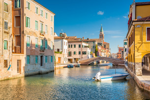 Chioggia, view of Canal Venaの写真素材 [FYI00792984]