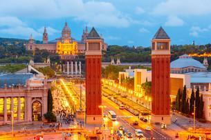 Placa Espanya in Barcelona, Catalonia, Spainの写真素材 [FYI00793206]