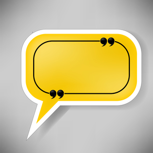 Yellow Speech Bubbleの写真素材 [FYI00793236]