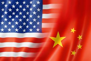 USA and China flagの写真素材 [FYI00793432]