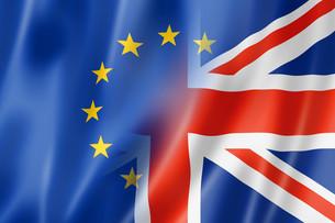 Europe and UK flagの写真素材 [FYI00793433]