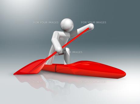 Canoe Sprint 3D symbol, Olympic sportsの素材 [FYI00793437]