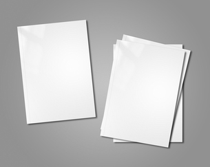 white booklets mockupの写真素材 [FYI00793441]