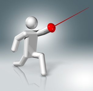 Fencing 3D symbol, Olympic sportsの素材 [FYI00793447]
