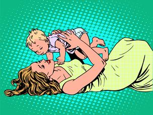 Mother child childhood motherhood happyの写真素材 [FYI00793536]