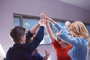 happy students celebrateの写真素材 [FYI00794077]