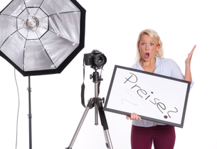 photographer upset about image pricesの写真素材 [FYI00794234]