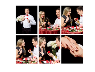Collage of lovely coupleの写真素材 [FYI00794790]